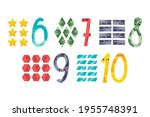 cute number characters  six ... | Shutterstock .eps vector #1955748391