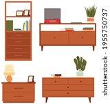 set of commode illustrations on ...   Shutterstock .eps vector #1955750737