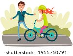 man in business suit teaches... | Shutterstock .eps vector #1955750791