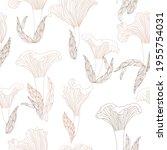 Chanterelles Mushrooms Pattern...