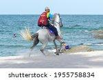 Horse Rider On Hua Hin Beach...