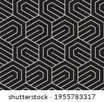 vector seamless hexagon lattice ...   Shutterstock .eps vector #1955783317