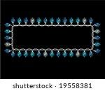christmas light rectangular... | Shutterstock .eps vector #19558381