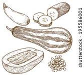 engraving vector illustration...   Shutterstock .eps vector #195586001