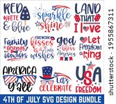 4th of july calligraphy graphic ... | Shutterstock .eps vector #1955867311