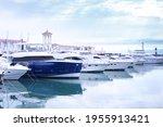 Marina With Yachts  Small Port. ...
