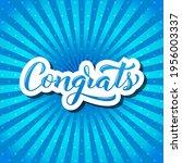 congrats calligraphy hand...   Shutterstock .eps vector #1956003337