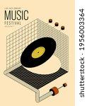 music poster design template...   Shutterstock .eps vector #1956003364