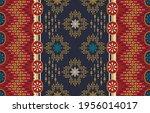 ethnic abstract ikat art....   Shutterstock .eps vector #1956014017