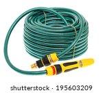 garden hose isolated on white... | Shutterstock . vector #195603209