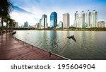 bangkok cityscape  business...   Shutterstock . vector #195604904