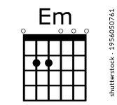 em guitar chords.tab.... | Shutterstock .eps vector #1956050761