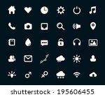 modern flat icons vector set of ... | Shutterstock .eps vector #195606455