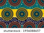 ethnic abstract fabric.... | Shutterstock .eps vector #1956088657