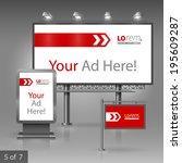 red outdoor advertising design... | Shutterstock .eps vector #195609287