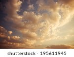sunset sky | Shutterstock . vector #195611945