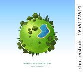 world environment day. earth... | Shutterstock .eps vector #1956122614