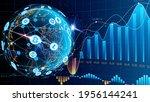 vector. blue futuristic...   Shutterstock .eps vector #1956144241