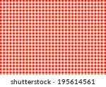 checked table cloth pattern.... | Shutterstock .eps vector #195614561
