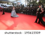 cannes  france   may 23   model ... | Shutterstock . vector #195615509