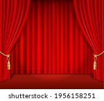 red theatrical curtain... | Shutterstock .eps vector #1956158251