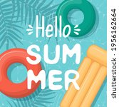 cute hello summer card with... | Shutterstock .eps vector #1956162664