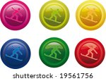 colored vector icon set | Shutterstock .eps vector #19561756