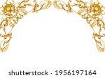 golden frame in rococo style | Shutterstock . vector #1956197164