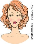 sensual woman face isolated.  | Shutterstock . vector #195620717