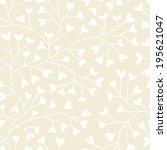 monochrome seamless pattern...   Shutterstock .eps vector #195621047