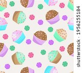seamless pattern with colorful... | Shutterstock .eps vector #1956255184