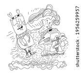 unusual abstract illustration...   Shutterstock .eps vector #1956259957