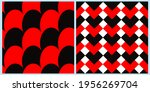 set of vector seamless patterns.... | Shutterstock .eps vector #1956269704