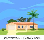 residential home building in... | Shutterstock .eps vector #1956274201