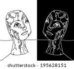 the sketched illustration of... | Shutterstock . vector #195628151