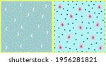 set of vector seamless patterns.... | Shutterstock .eps vector #1956281821