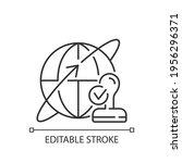custom broker linear icon.... | Shutterstock .eps vector #1956296371