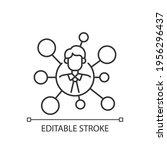 broker's connections linear... | Shutterstock .eps vector #1956296437