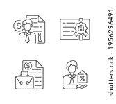 broker linear icons set.... | Shutterstock .eps vector #1956296491