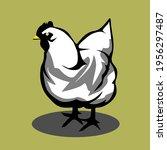 icon animlas chicken hen vector ... | Shutterstock .eps vector #1956297487