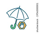 insurance rgb color icon.... | Shutterstock .eps vector #1956300001