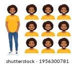 young african man with...   Shutterstock .eps vector #1956300781