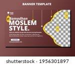 banner template design. web... | Shutterstock .eps vector #1956301897