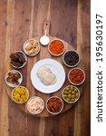 set of tapas tom view   Shutterstock . vector #195630197