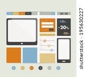 simply flat web page. vector...