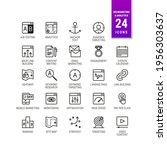 seo optimization icons. set of...   Shutterstock .eps vector #1956303637