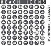 beach icons | Shutterstock .eps vector #195632294