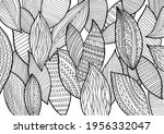 doodle surreal fantasy leaves... | Shutterstock .eps vector #1956332047