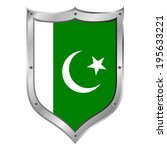 pakistan flag button on a white ...   Shutterstock .eps vector #195633221