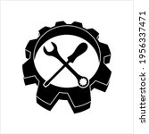 service icon design vector art... | Shutterstock .eps vector #1956337471